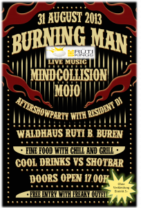 Flyer Burning Man Rüti bei Büren