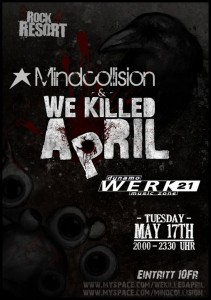 Flyer Mindcollision live @ Rock Resort Dynamo
