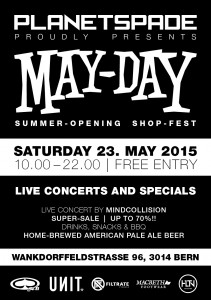 May-Day Summer-Opening Planetspade Shop Bern